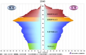 2040年の人口ピラミッド