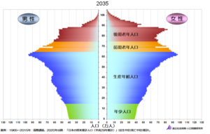 2035年の人口ピラミッド