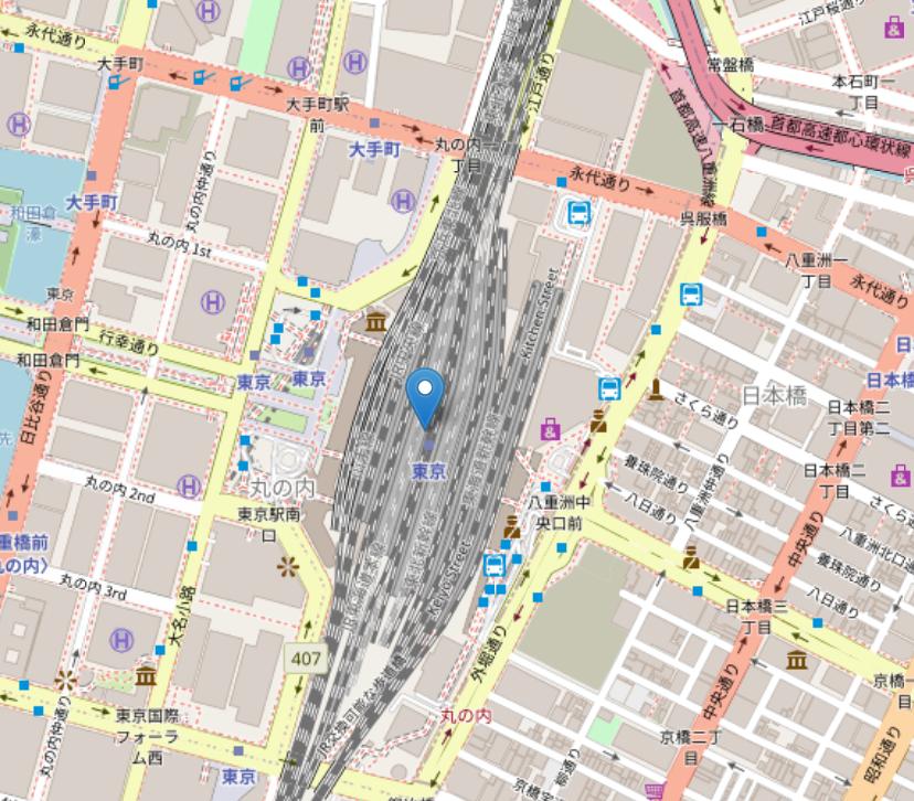 東京駅周辺の地図