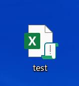 エクセルファイルのコピーをデスクトップに保存