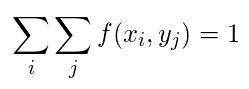 離散型同時確率分布