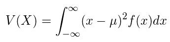 連続型確率変数の分散