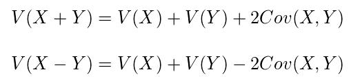確率変数が2つの場合の分散