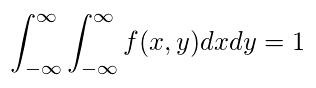 連続型同時確率分布