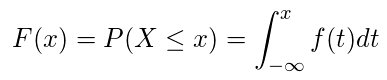 累積分布関数(連続)